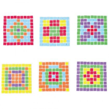 Make a coaster in a flash with these fun foam mosaics!