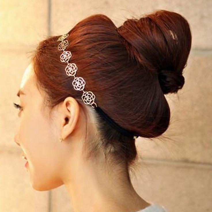 Kai yunly 1 ST Haar Hoofdtooi Mode Elegante Rose Met Fijn Haar Cut Hoofdband Hoofddeksels Haaraccessoires Augustus 23