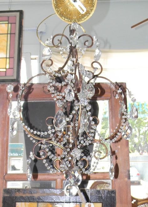 Antique Bronze French Crystal Chandelier by DreaminParis on Etsy, $775.00: Crystal Chandeliers, Crystals Chandeliers, French Crystals