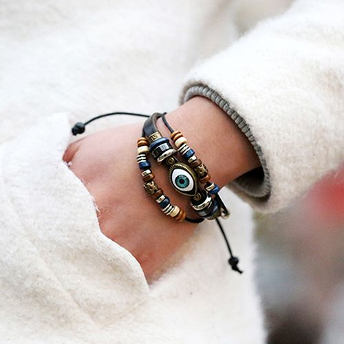 Cheap jewelry drawer, Buy Quality jewelry black and white directly from China jewelry card Suppliers: Unisex Handmade Turkish Eye Faux Leather Adjustable Bracelet Wristband Jewelry ASVH