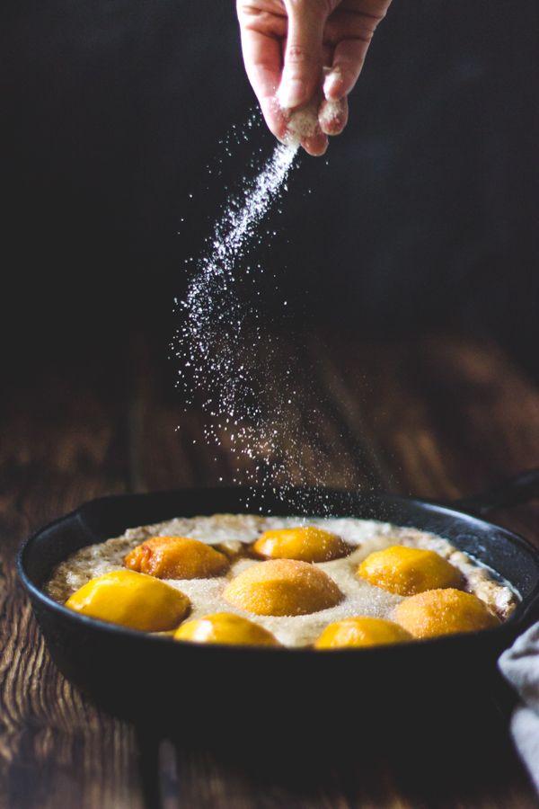 Southern-Style Peach Cobbler with Maple Sugar, Bourbon + Brown Butter {Gluten-Free} | The Bojon Gourmet: