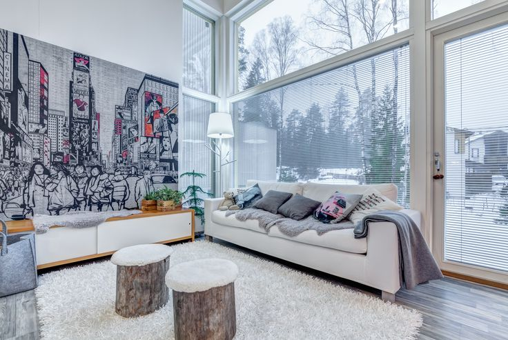 My living room in my house, Espoo, Finland