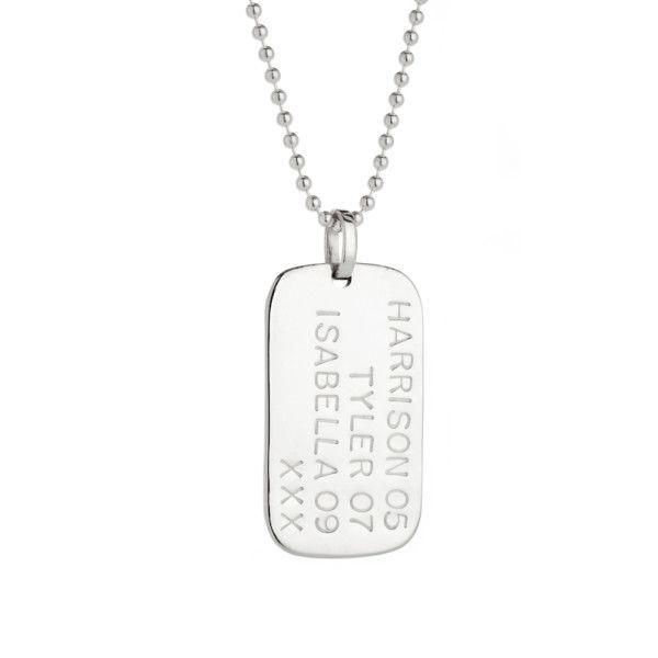 Finn personalised sterling silver pendant