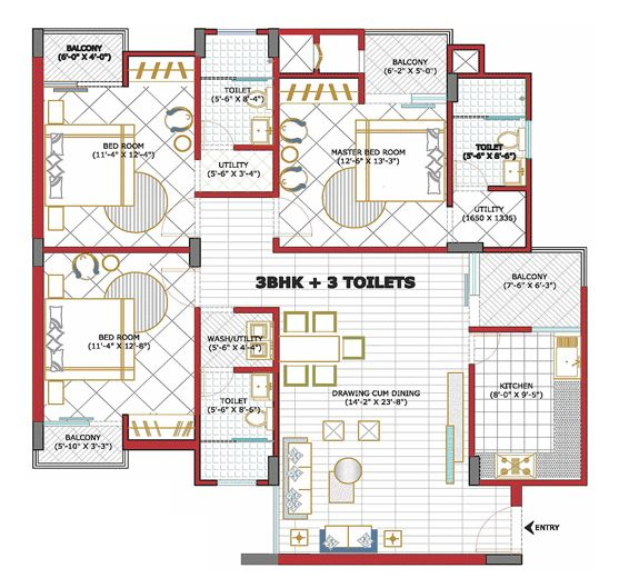 floor practical plan magic kitchen plans goel lucknow heights victorian propertywala map