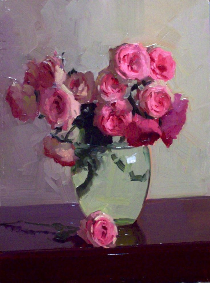 """Dennis Perrin, Maria Theresia in a Ballerina Vase, oil on canvas, 20""""x16"""", US…"""