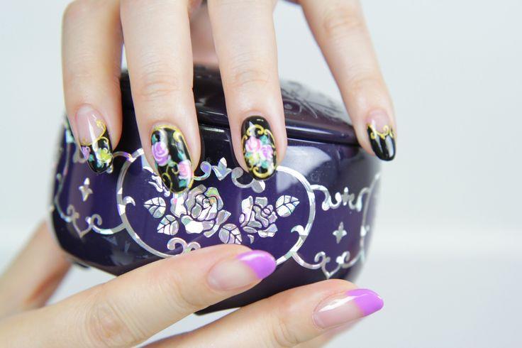 [미대의 네일컬렉션]8화_ 안나수이풍 마블로즈 / Annasui. antique rose nail art/アナスイマーブルローズネイ...