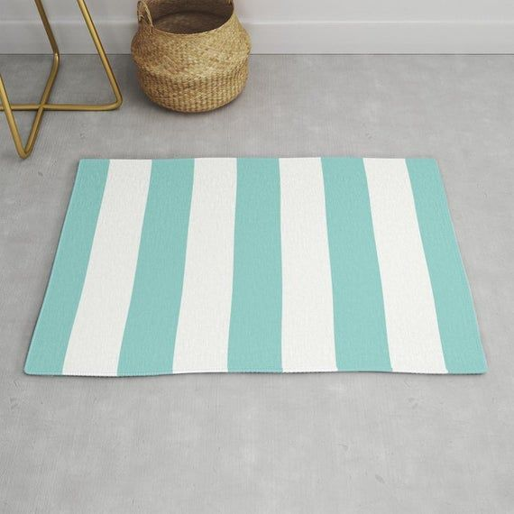 Stripes Area Rug Blue And White Stripes Rug Printed Rug