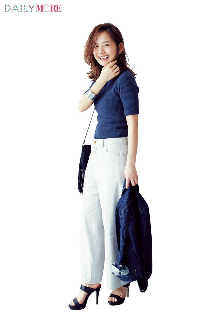 武智志穂ちゃん&高山直子ちゃんが実践! Sサイズ女子のための、ワイドパンツ講座 | ファッション(コーディネート・流行) | DAILY MORE