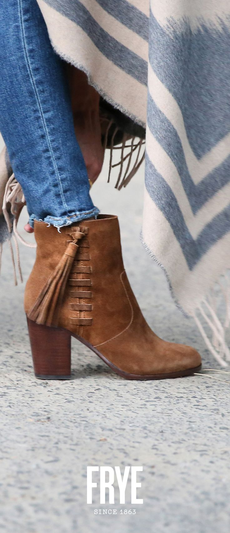 Put some swing in your step with the Myra Tassel Lace from The Frye Company.