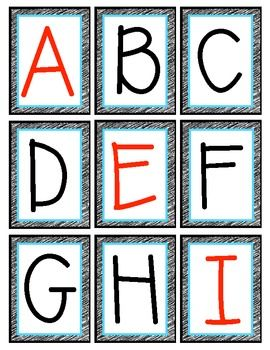 Free Alphabet Flashcards