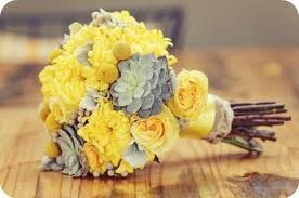yellow and gray wedding flowersBridal Bouquets, Yellow Wedding, Wedding Bouquets, Wedding Colors, Yellow Bouquets, Wedding Flower, Bridesmaid Bouquets, Yellow Flower, Succulent Bouquets