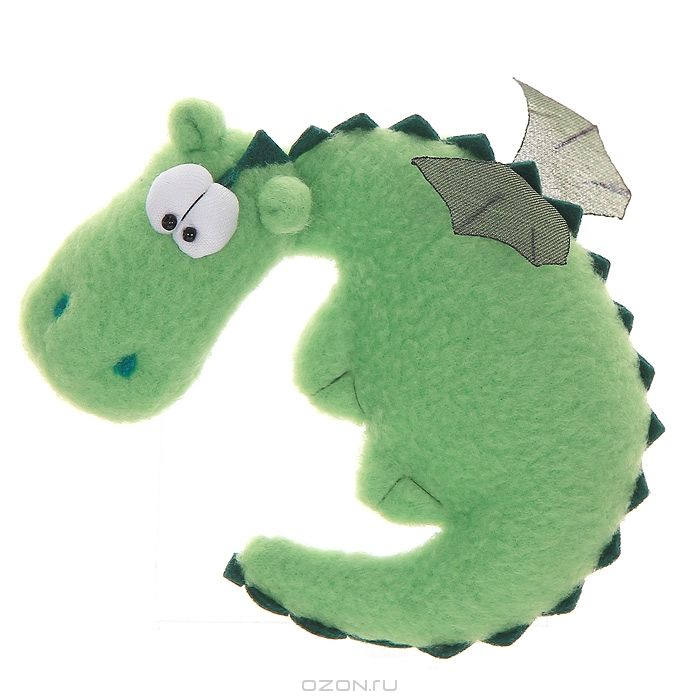 This happy little dragon is just screaming to be a rattle!
