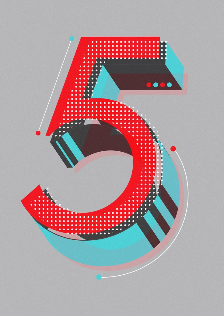 FiveBy Neil stevens  Currently working through an alphabet of initial lettering for editorial uses and just got to the numbers which are a l...