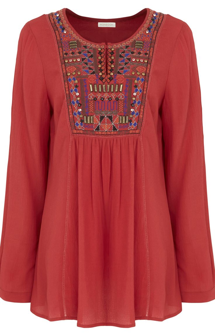 Embroidered Boho Tops, Dresses, More: 2014 Trends - (article) -  http://boomerinas.com/2014/01/24/embroidered-boho-tops-dresses-more-2014-trends/