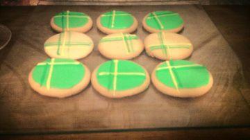 Galletas de San Patricio.  Saint Patrick's cookies.