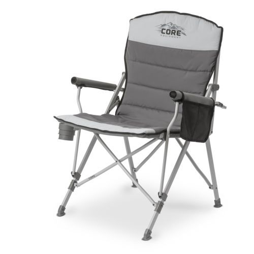 Cozy quilted seat; Padded hard arms provide extra support and comfort.  #Outdoor #Camping #Fishing #Chair