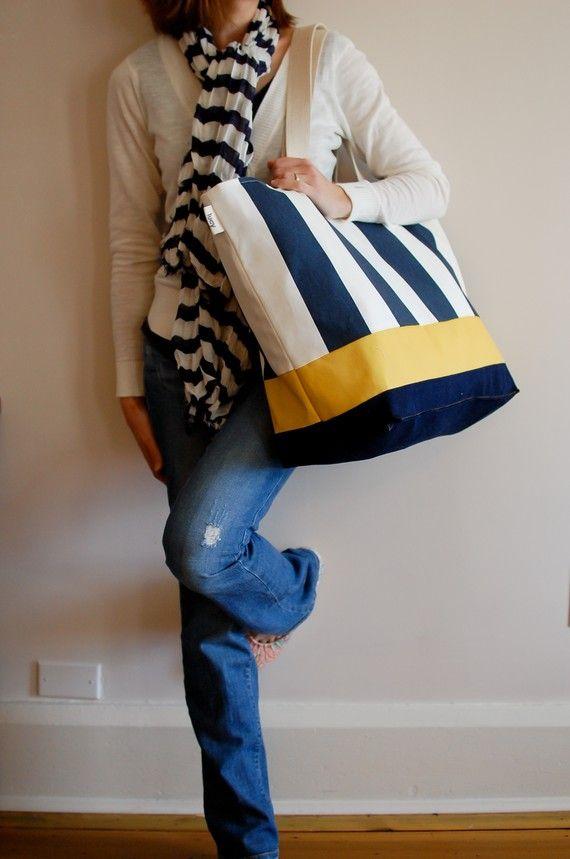 Beach bag from LucyJaneStudio on Etsy $47.50