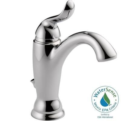 Delta Linden Single Hole Single-Handle Bathroom Faucet in Chrome with Metal Pop-up - 594-MPU-DST - The Home Depot