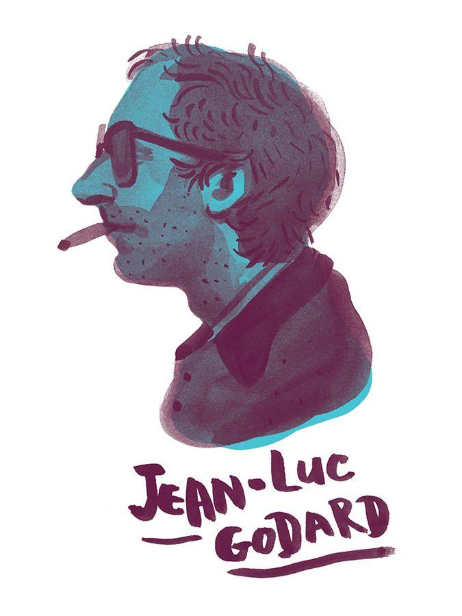 Series of portraits of some of my favorite film directors.Ink + digital