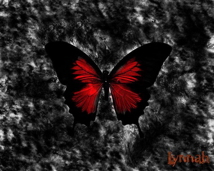 Gothic Butterfly | Crimson Butterfly.jpg Gothic Wallpaper - Free Dark Art Gothic ...