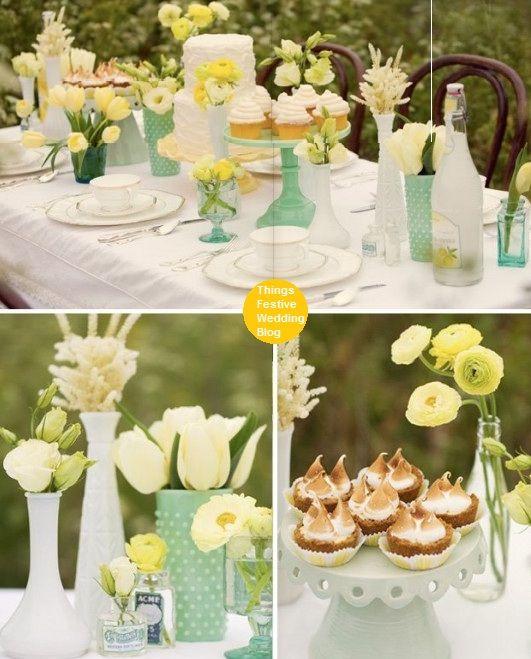 mint and yellow dessert table by soo12, via Flickr  @Jennifer Silveri