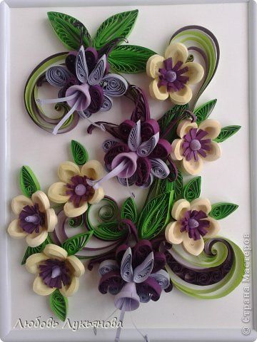 *QUILLING ~ Painting panels pattern Quilling Quilling with Love 9 Paper strips 4 photos