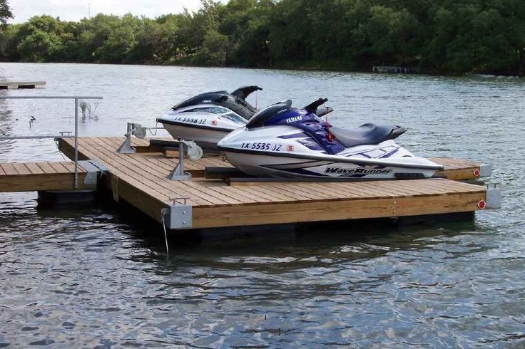 Diy Double Pwc Dock Kit Floating Boat Dock With Swim
