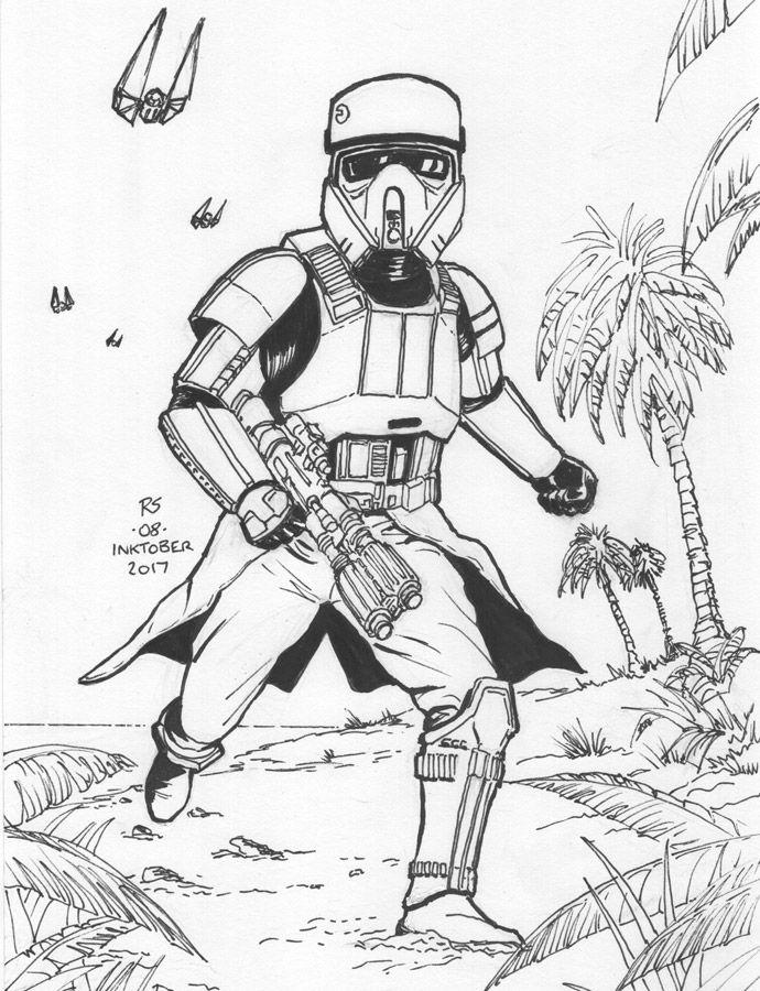 Inktober Pen Sketch Shore Trooper By Robert Shane Pen Sketch Trooper Art