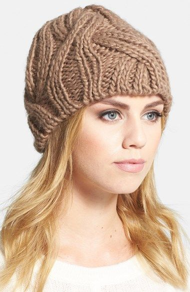 Hinge Cable Knit Beanie available at #Nordstrom