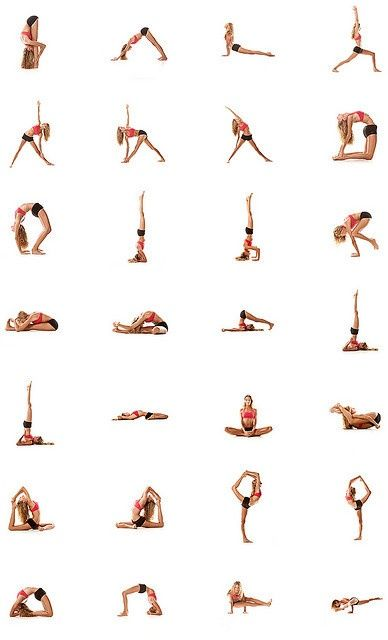Hold each pose for 30 seconds. You'll feel great when its all done! AND it should take about 14 minutes, and you can do it at home. yoga.