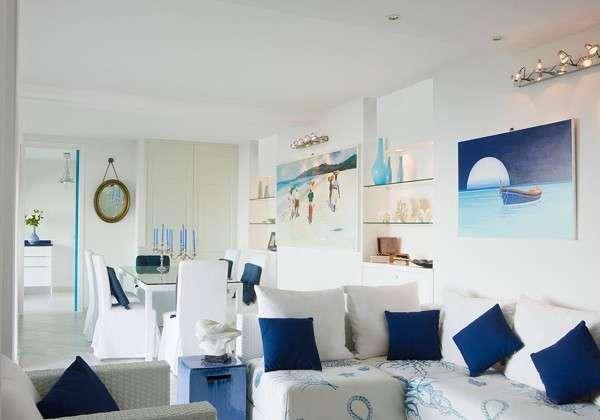 Arredamento casa al mare - Living room e sala da pranzo