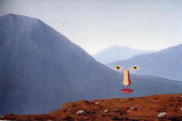 Reproduction de Magritte, Tous les jours. Tableau peint à la main dans nos ateliers. Peinture à l'huile sur toile.