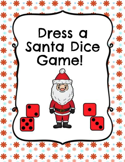 Have your students enjoy this rolling a dice to dress their Santa. You will need a dice, crayons, scissors, and glue to dress the Santa! Such a Super cute Activity!
