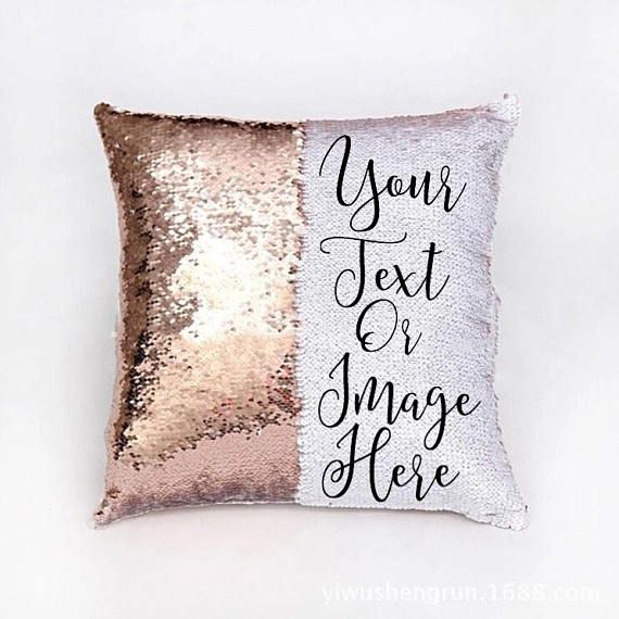 Custom Sequin Pillow Funny Mermaid Pillow Hidden Message Etsy Mermaid Throw Pillows Sequin Pillow Custom Pillows