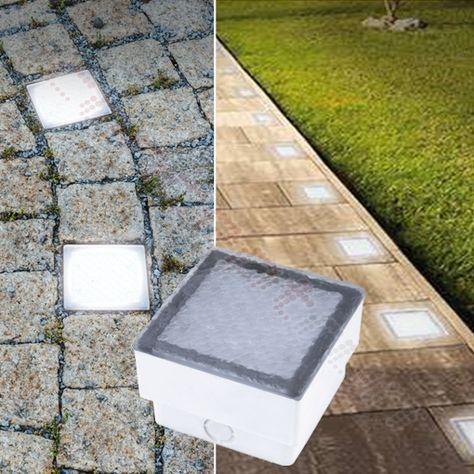 LED Pflasterstein Bodenleuchte Gartenstrahler Bodeneinbauleuchte Außenleuchte IP67 230V (#PF3)