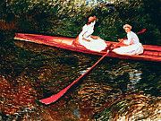 "New artwork for sale! - "" Claude Monet - The Pink Skiff by Claude Monet "" - http://ift.tt/2m3X3C7"
