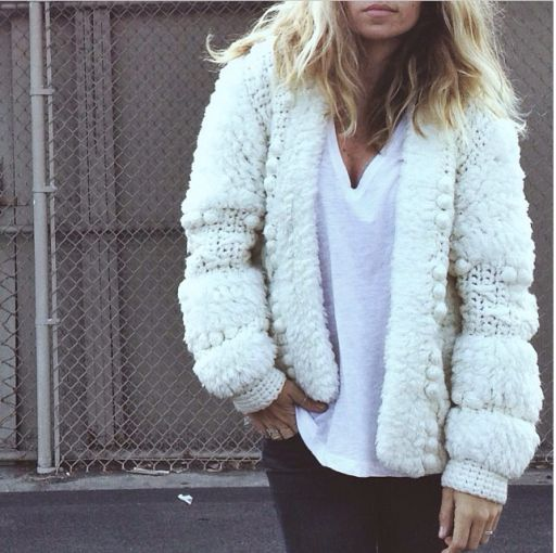 The perfect fluffy/comfortable sweater // WANT