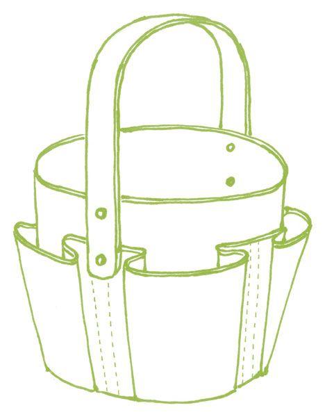 Sewn gardening bag