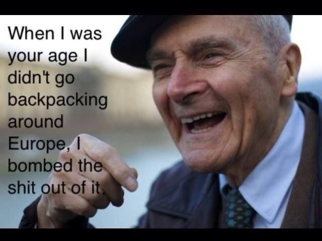 Hahah love it            #usaf funny old people #europe