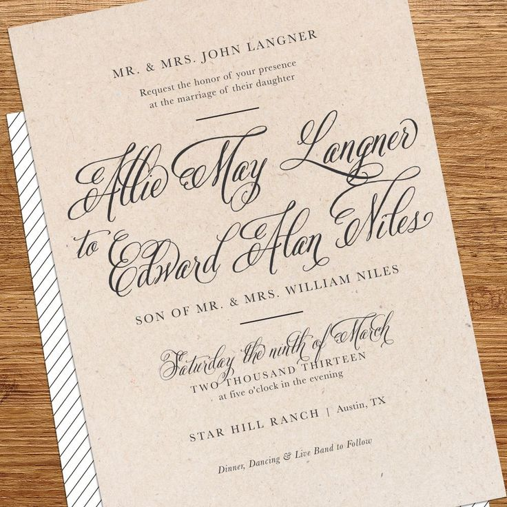 Best Formal Wedding Invitation Wording Images On