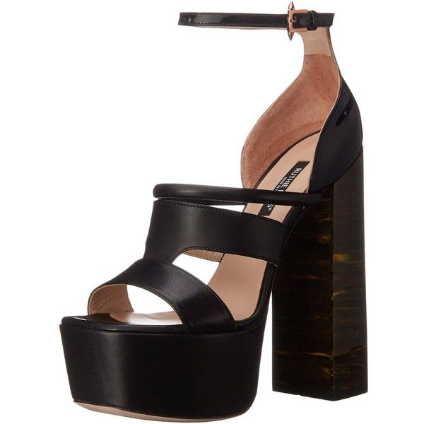 Ruthie Davis Women's Hybrid Platform Sandal ($374) ❤ liked on Polyvore featuring shoes, sandals, ruthie davis, ruthie davis shoes, platform sandals and platform shoes