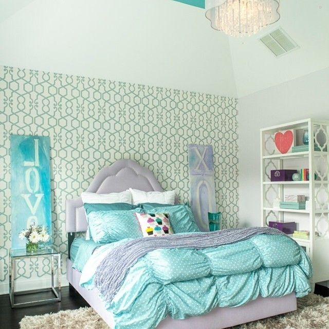 Super glam girls room#girls #girlsroom #decor #design #lavender #aquablue #chandiler #kids #kidsdecor #kidsdesign #homedecor #homedesign #igdaily #instahub #instapic #instakids #instamoms #instadecor #instadesign #interiordesign #teen #glam #picoftheday... - Home Decor For Kids And Interior Design Ideas for Children, Toddler Room Ideas For Boys And Girls