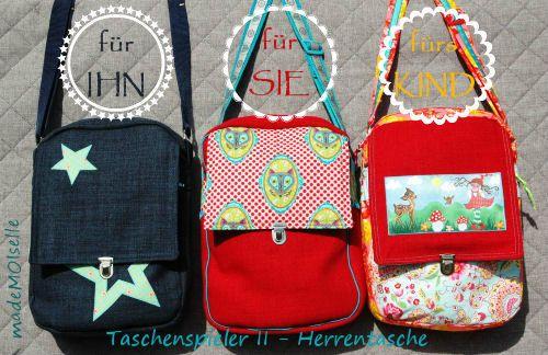 madeMOIselle: Herrentasche, Pattern by farbenmix.de, #taschenspieler2 #nähen #sewing #pattern #schnittmuster #diy #bags #handmade
