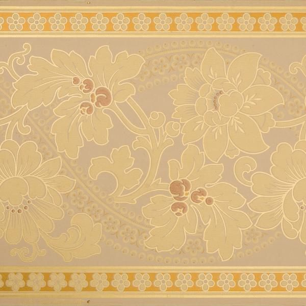 Large Floral Foliate Border Antique Wallpaper Remnant Antique Wallpaper Victorian Wallpaper Original Wallpaper