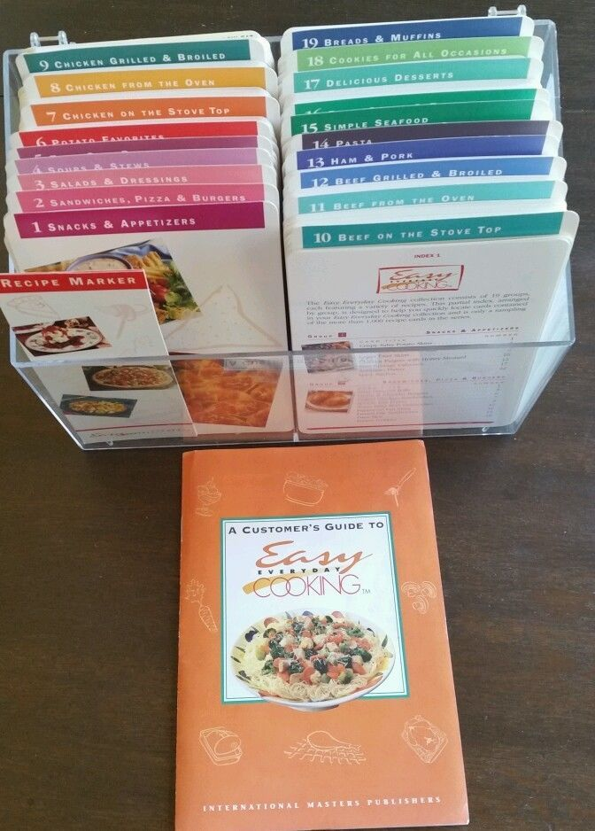 EASY EVERYDAY COOKING ALMOST COMPLETE 1041 Recipe Card Set Excellent Condition