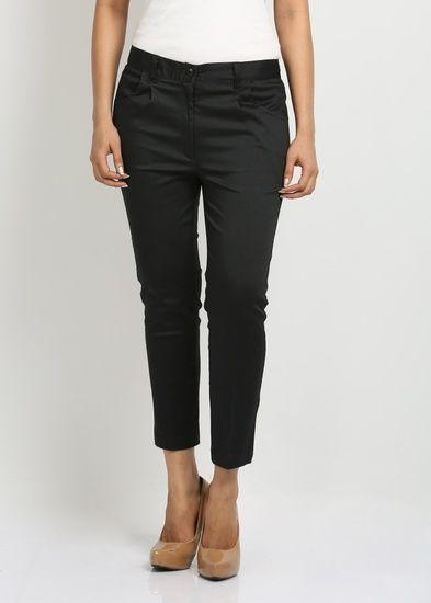 Fbbic Women's Trousers - Black - Fbbic Women trouser
