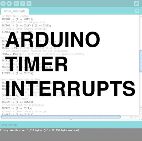 Learn how to setup and execute an arduino timer interrupts