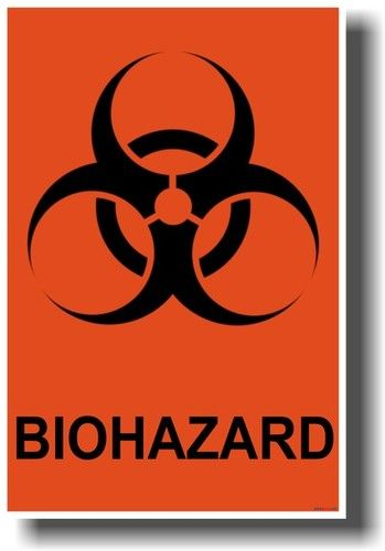health safety biohazard disease poster sign healthy disease contagion contagious germs bacteria virus death