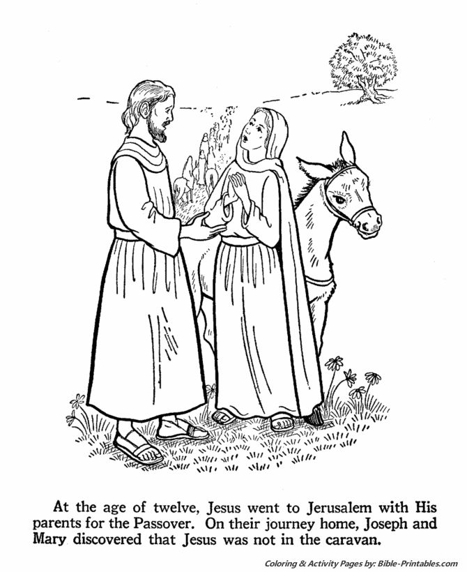 Jesus Youth Coloring Page 3