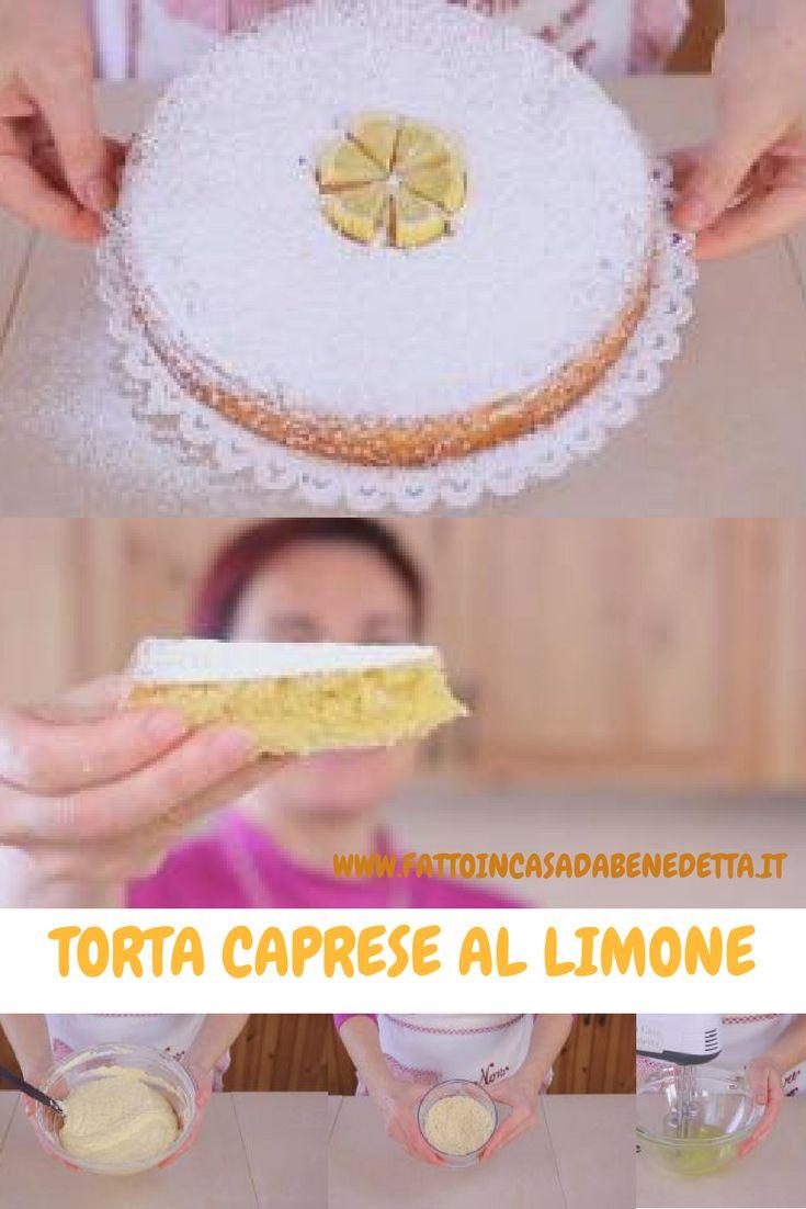 Torta caprese al limone, una torta a base di farina di mandorle.